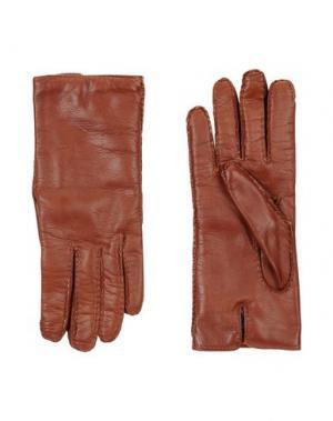 Перчатки MALO. Цвет: коричневый