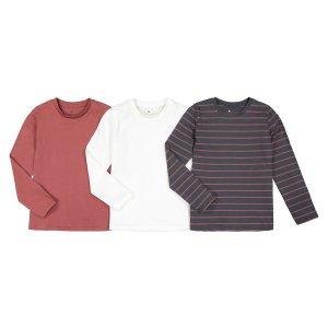 3 футболки LaRedoute. Цвет: красный