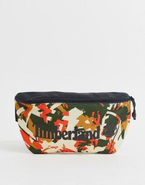Сумка-кошелек на пояс с камуфляжным принтом и логотипом -Мульти Timberland