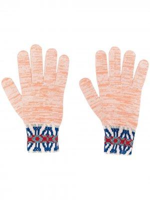 Трикотажные перчатки с узором Missoni. Цвет: розовый
