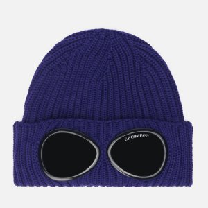 Шапка Extra Fine Merino Wool Goggle C.P. Company. Цвет: синий