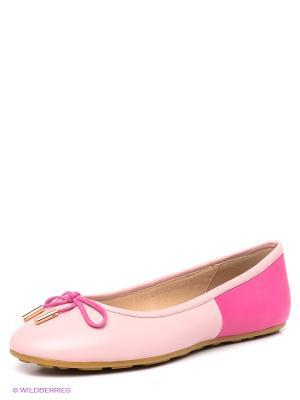 Балетки LENA MILAN. Цвет: бледно-розовый, розовый