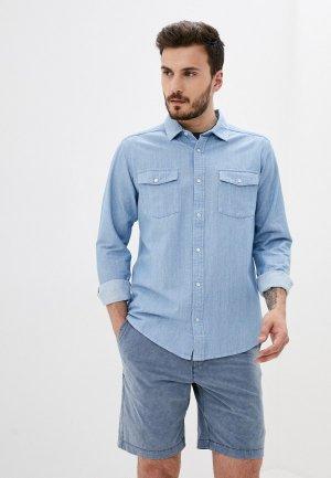 Рубашка джинсовая RVCA NAKAMA II LS. Цвет: голубой