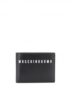 Бумажник с графичным принтом Moschino. Цвет: черный