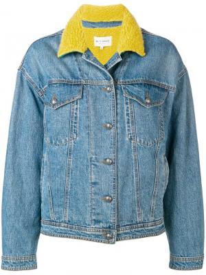 Джинсовая куртка с контрастным воротником Etro. Цвет: синий