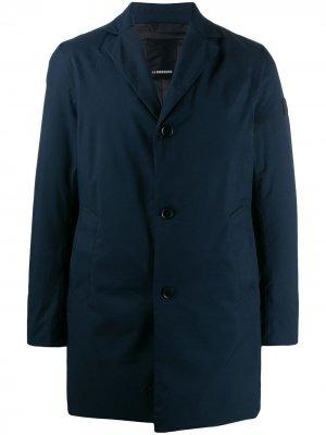 Однобортное пальто Wolger J.Lindeberg. Цвет: синий