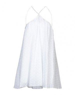Короткое платье DENNY ROSE. Цвет: белый