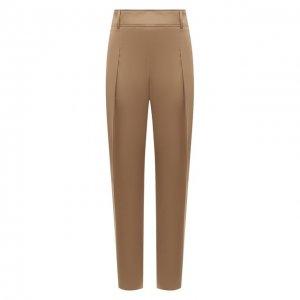 Хлопковые брюки BOSS. Цвет: бежевый