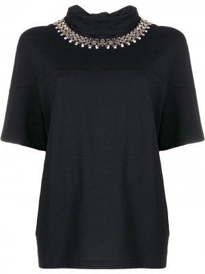 Декорированная блузка Christopher Kane. Цвет: черный