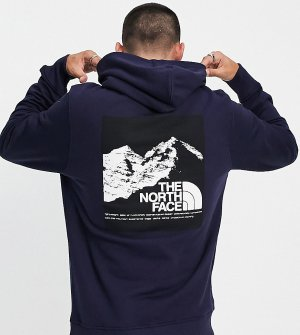 Худи темно-синего цвета с графическим принтом – эксклюзивно для ASOS-Темно-синий The North Face