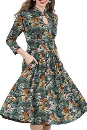 Платье Olivegrey. Цвет: черно-изумрудный