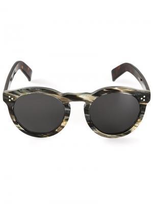 Солнцезащитные очки Leonard Illesteva. Цвет: серый
