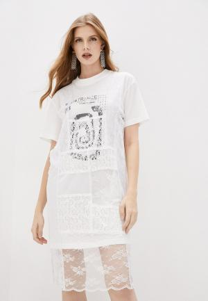 Платье McQ Alexander McQueen. Цвет: белый