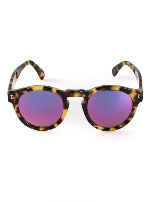 Солнезащитные очки Leonard Illesteva. Цвет: коричневый