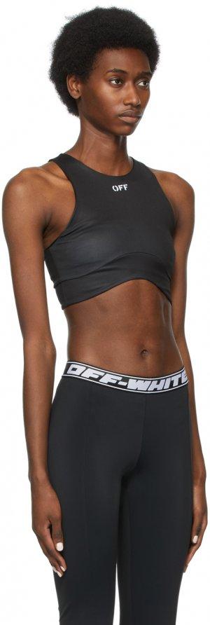 Black Meteor Seamless Sports Bra Off-White. Цвет: black