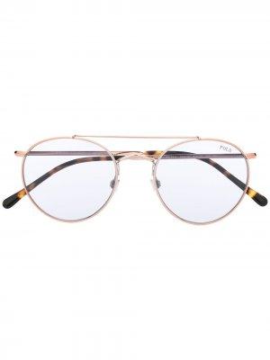 Солнцезащитные очки 0ph3114 Polo Ralph Lauren. Цвет: коричневый