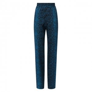 Шерстяные брюки Dries Van Noten. Цвет: синий