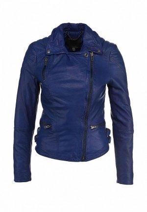 Куртка кожаная Muubaa MU007EWCRG08. Цвет: синий
