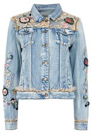 Джинсовая куртка с отделкой Desigual