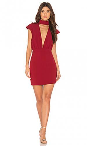 Мини платье dakota AQ/AQ. Цвет: красное вино