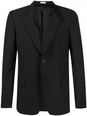 Однобортный пиджак Alexander McQueen. Цвет: черный