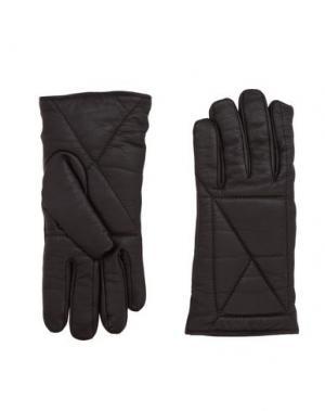 Перчатки JIL SANDER. Цвет: темно-коричневый