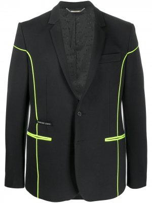 Пиджак с неоновой отделкой Philipp Plein. Цвет: черный