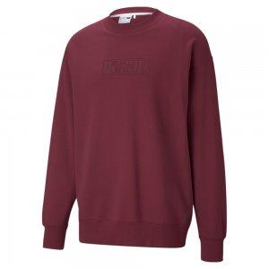 Толстовка x MAISON KITSUNÉ Crew Neck Sweatshirt PUMA. Цвет: фиолетовый