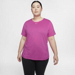 Женская сетчатая футболка Nike Pro (большие размеры) - Красный