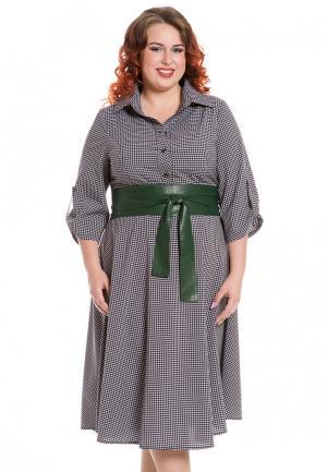 Платье Luxury Plus. Цвет: серый