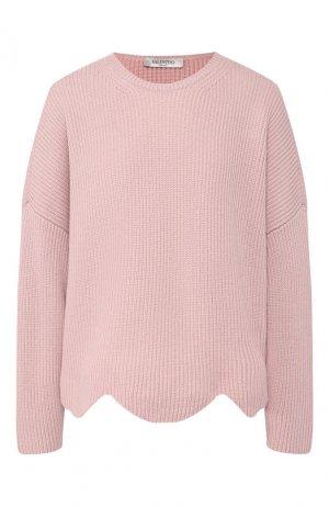 Шерстяной пуловер Valentino. Цвет: розовый