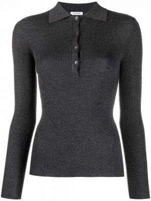 Рубашка поло узкого кроя P.A.R.O.S.H.. Цвет: серый