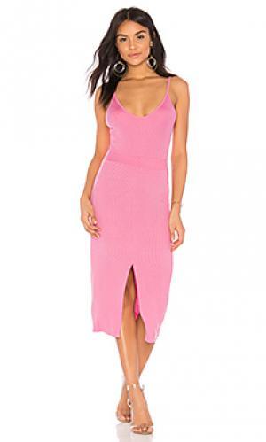 Платье lane LA Made. Цвет: розовый