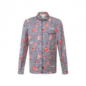 Шелковая сорочка Dolce & Gabbana. Цвет: разноцветный