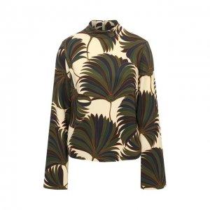 Блузка из вискозы Dries Van Noten. Цвет: зелёный