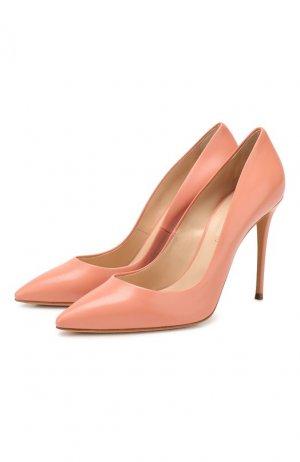 Кожаные туфли Julia Casadei. Цвет: розовый