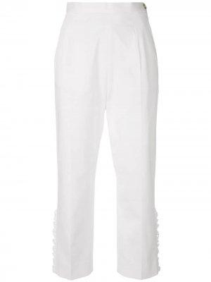 IM Isola Marras укороченные брюки с оборками I'M. Цвет: белый