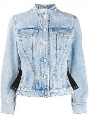 Джинсовая куртка со вставками Alexander McQueen. Цвет: синий