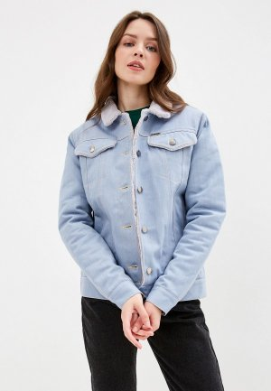 Куртка джинсовая Dasti. Цвет: голубой