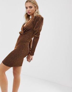 Платье с длинными рукавами Moves By -Коричневый Minimum