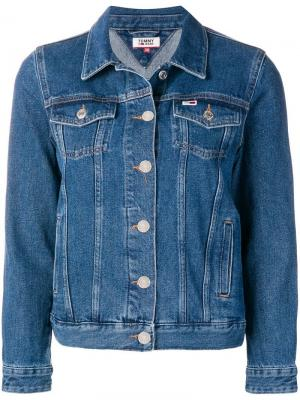 Классическая джинсовая куртка Tommy Jeans. Цвет: синий