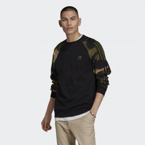 Свитшот Camo Stripes Originals adidas. Цвет: черный