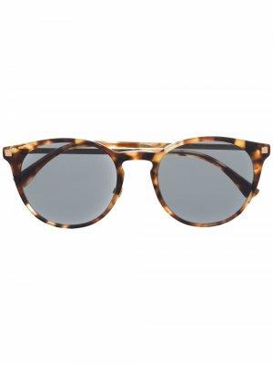 Солнцезащитные очки Keelut в круглой оправе Mykita. Цвет: коричневый