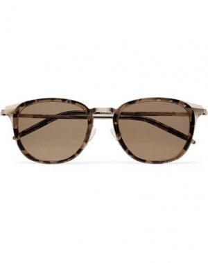 Солнечные очки BARTON PERREIRA. Цвет: темно-коричневый