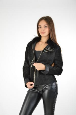 Куртка DUO BY HARMANLI. Цвет: черный
