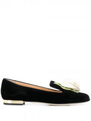Туфли с вышивкой Charlotte Olympia. Цвет: черный