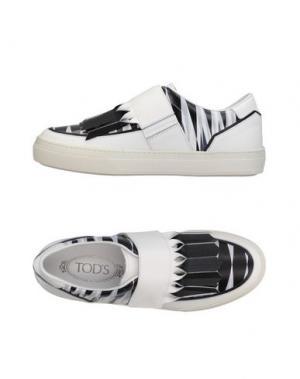 Низкие кеды и кроссовки TOD'S. Цвет: черный