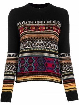 Intarsia-knit jumper ETRO. Цвет: черный