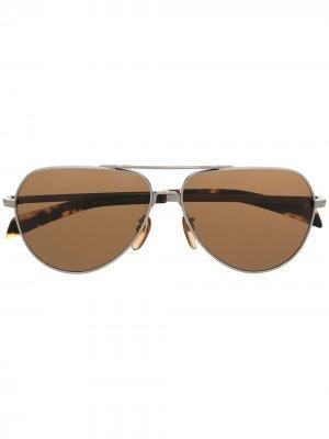 Солнцезащитные очки-авиаторы Eyewear by David Beckham. Цвет: золотистый