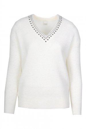 Белый пуловер с заклепками Pinko